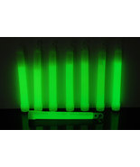 Set of 6 Green Jumbo 6 Inch 12 Hour Safety Glow Sticks - $8.50