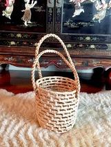 S Straw Bag,Straw Basket Tote,Straw Basket Bag,Round Straw Bag,Round Bas... - $75.00