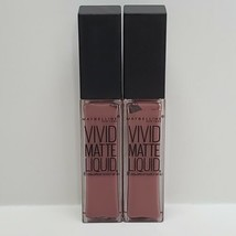 2x Maybelline Vivid Matte Liquid Lipstick Color Sensational 20 Grey Envy Pink  - $19.99