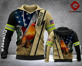 ROOSTER FIREFIGHTER 3D Hoodie All Over Printed For Men For Women All Ove... - $37.17+