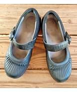 Dansko Size 38 Black Leather Orthopedic Walking Mary Jane Shoes Slide On - $12.34