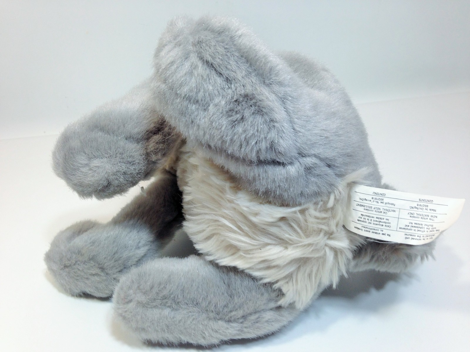 "Vintage Disney Tramp Plush Dog Grey Stuffed Animal Metal DogTag 14"" image 8"