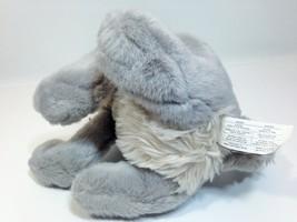 """Vintage Disney Tramp Plush Dog Grey Stuffed Animal Metal DogTag 14"""" image 8"""