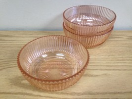 Lot Of 3 Mid Century Modern Pink Glass Bowls - $14.95