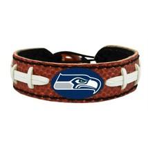 Seattle Seahawks Football Bracelet Genuine Leather OSFM New NFL  - $15.83