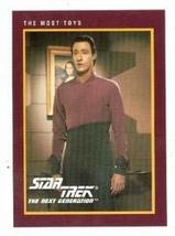 Star Trek The Next Generation card #218 The Most Toys Data Brent Spiner - $3.00