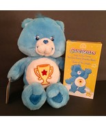 "2003 CARE BEAR 13"" Stuffed Plush Toy Blue Champ Bear Play Along NWOB w VHS - $21.00"