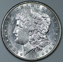 1897-S Morgan Dollar; Flashy Choice AU-BU - $79.19