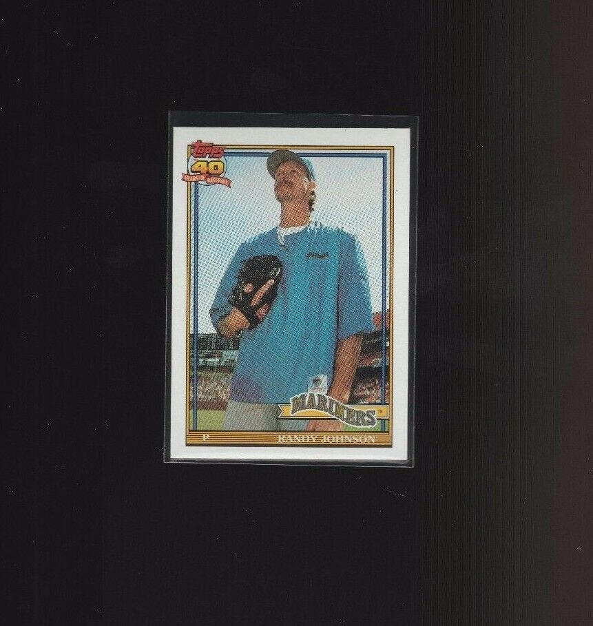 Randy Johnson 1991 Topps Glow Card Back UV Variant Baseball Card #225