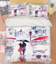 3D Street View 2 Bed Pillowcases Quilt Duvet Cover Set Single Queen King Size AU - $90.04+