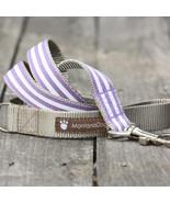Mod Stripe Purple Grosgrain Dog Leash (120cm, 4ft.) / Made in Japan - $36.00
