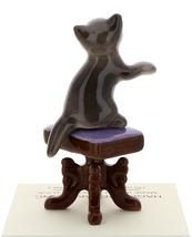 Hagen-Renaker Miniature Ceramic Figurine Keyboard Cat on Bench Playing Piano image 6