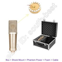 Large Diaphragm Condenser Cardioid Microphone for Recording Studio + Box... - $395.01