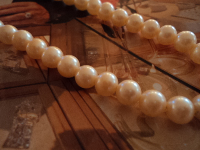 Vintage 16 inch Faux Pearl Necklace One Side of Clasp is Mis