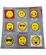 Emoji LOL enfriar REPETICIÓN ALARMA Descarado Gris Amarillo Rojo Manta p... - $15.28 CAD