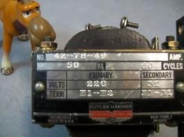Cutler Hammer 42-78-49 Transformer 50va 230v-32v - $65.18