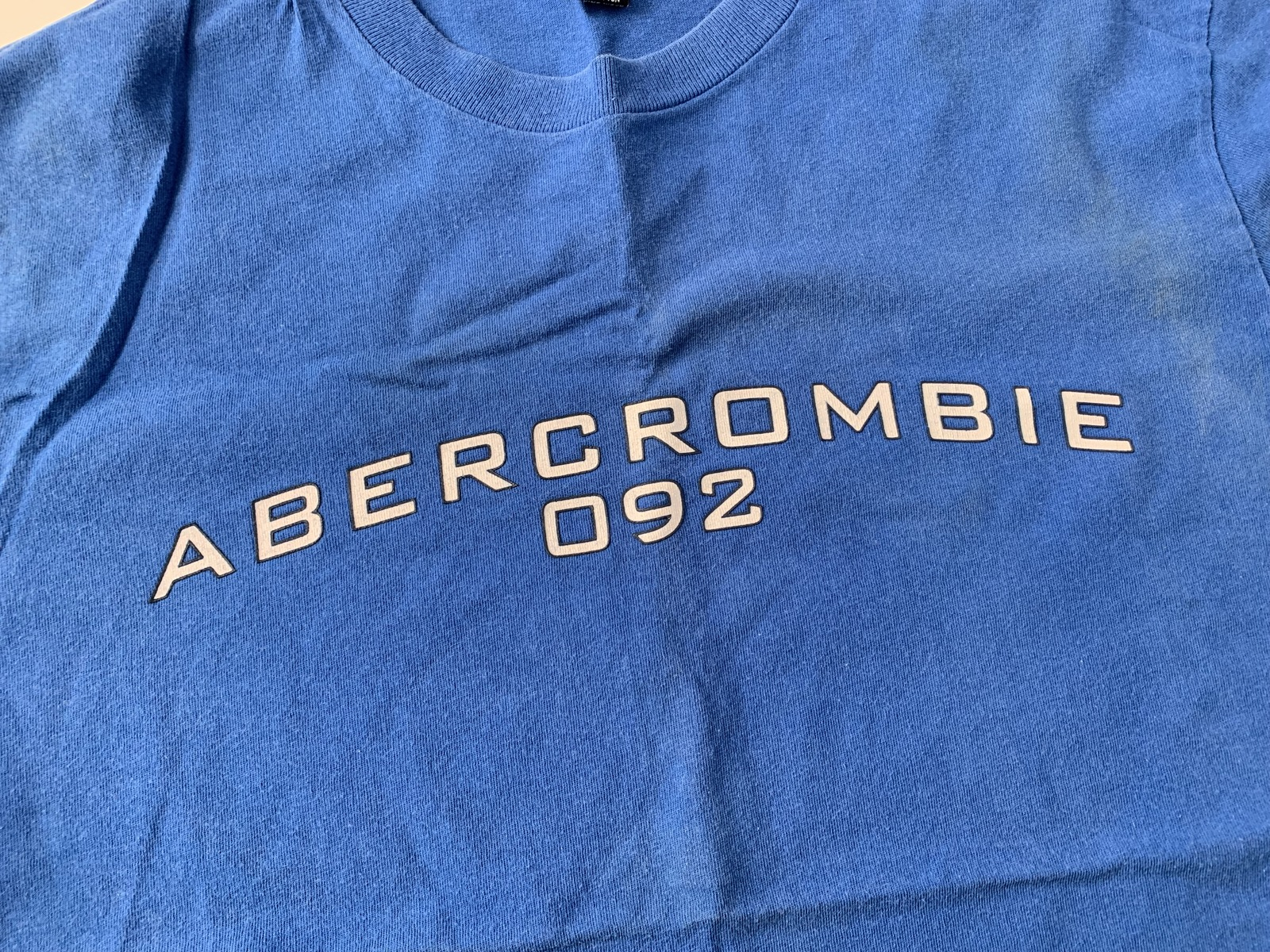 Abercrombie & Fitch Gym Issue Tee T-Shirt Blue | Men's Size Medium