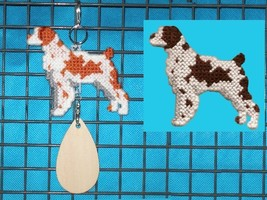 Brittany crate tag or hang anywhere, handmade hunting bird dog, color op... - $22.00