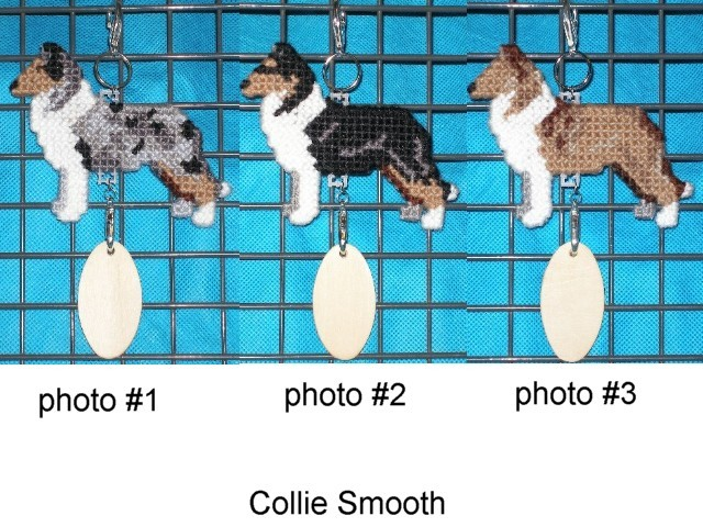 Collie Smooth crate tag or hang anywhere, herding sheep dog, choose your color
