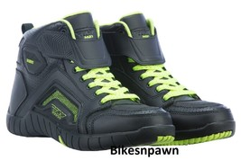 New Sz 9 Mens FLY Racing M21 Black/Hi-Vis Leather Motorcycle Street Riding Shoe image 1