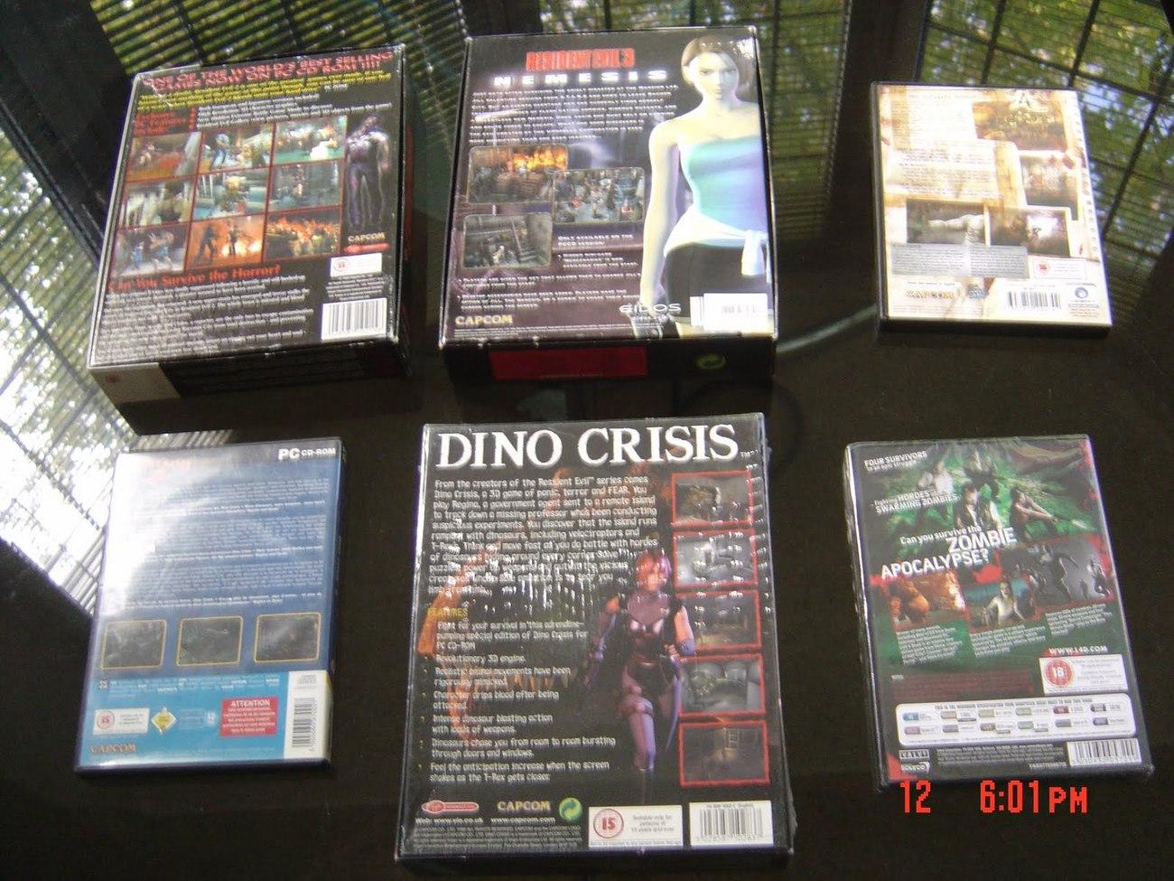 RESIDENT EVIL 2+3+4+DINOCRISIS 1+2+LEFT 4 DEAD PC VERSIONS
