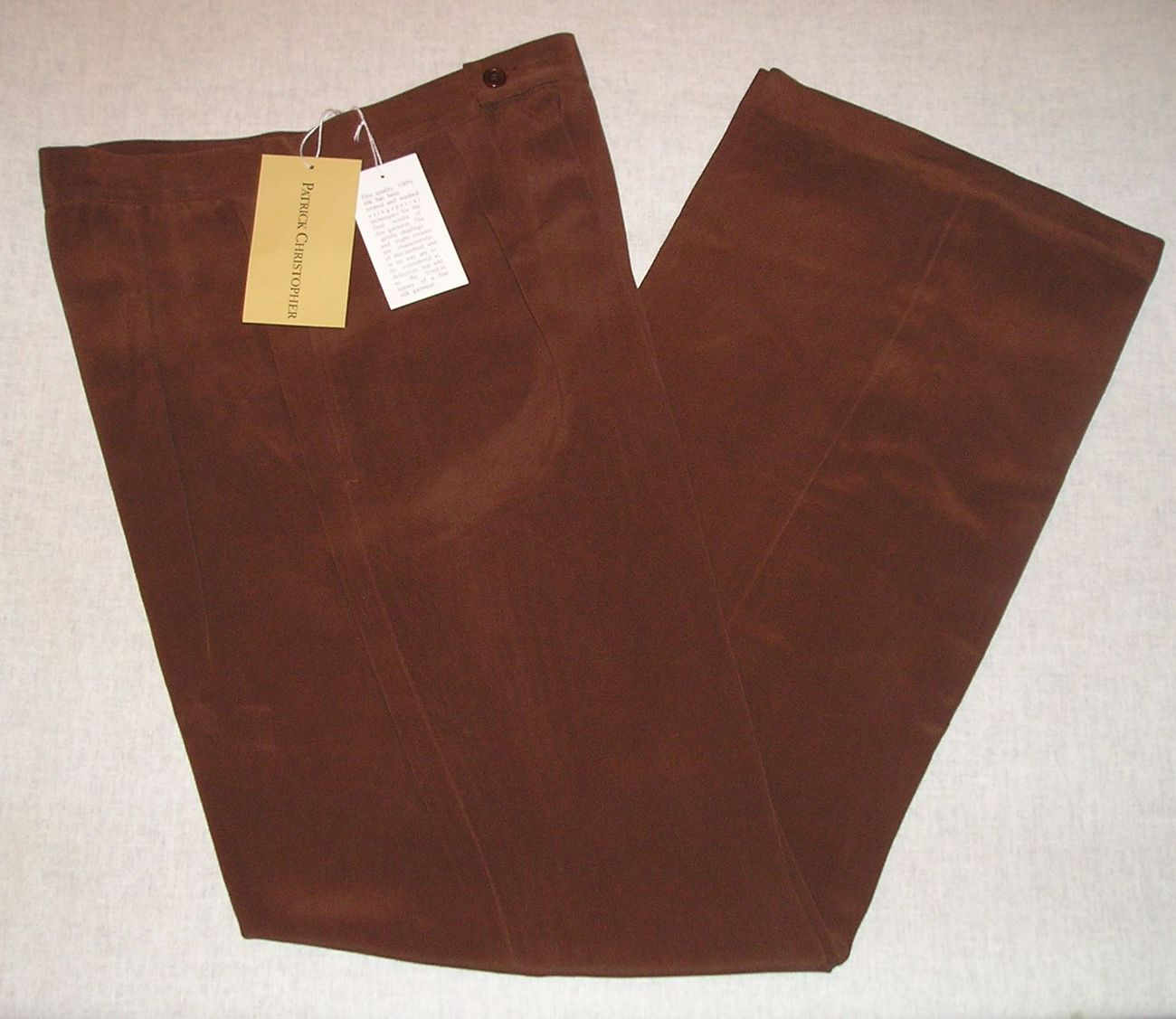 NEW PATRICK CHRISTOPHER Women's 100% Silk Cocoa Dress Pants 8 Medium M