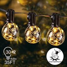 Globe String Lights Outdoor, 35ft G40 LED Light String Shatterproof 30 B... - $39.28