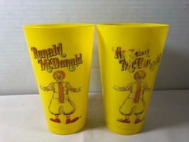 "1960-70""s Lot of 2 Ronald McDonald McDonald's Fast Food Yellow Plastic Cups  - $24.75"