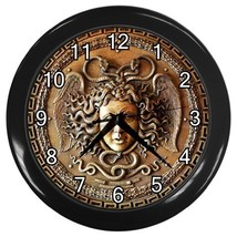 Medusa's Head With The Snakes Decorative Wall Clock (Black) Gift model 3... - $18.99