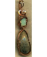 Australian Opal Copper Wire Wrap Pendant 36 - $31.90