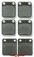 Hyosung Disc Brake Pads TE450S 2007-2009 Front & Rear (3 Sets)