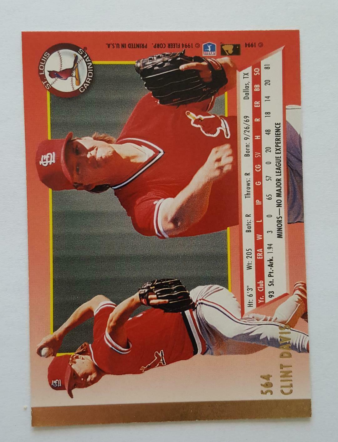 1994 Fleer Ultra + Rookie Card Lot NM Cond w/ Pat Ripp, Clint Davis, Nice Cards image 9