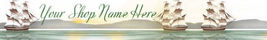 Web Banner Ships Passing in the Harbor Digital 29a - $7.00