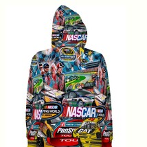 Nascar stickerbomb  hoodie fullprint for women back thumb200