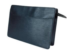 Auth LOUIS VUITTON Pochette Homme Epi Leather Black Clutch Bag LP2375 - $189.00