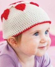 Z538 Crochet PATTERN ONLY Cherish Baby Hat with Hearts Pattern - $7.50