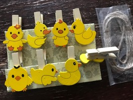 32pcs Yellow Duck Shape Wood Clips,Clothespins,Photo Pegs for Birthday F... - $7.20
