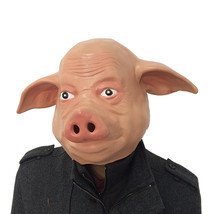 Latex Pig Mask Party Halloween Costume Full Face Animal Head Masquerade ... - $12.00