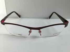 New ALAIN MIKLI AL0938 AL 0938 0013 54mm Bronze Semi-Rimless Eyeglasses Frame - $314.99