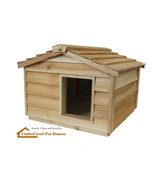 LARGE INSULATED CEDAR CAT HOUSE SMALL DOG HOUSE SHELTER - £179.87 GBP
