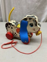 Vintage 1963 Fisher-Price Pull Toy 626 Playful Puppy Works Great Sound  - $29.99