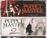 DVD-PUPPET MASTER, PUPPET MASTER 2, and PUPPET MASTER 3: TOULON'S REVENGE.