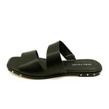 Marc Fisher Womens Jaylin Leather Studded Two Strap Slides Sandals Black 8.5M - $34.64