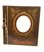 "Vintage Wood Covered Photo Album Memories 14""  Brown Mr. Man 1983 - $18.89"