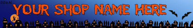 Web Banner Halloween Night Custom Designed   32a