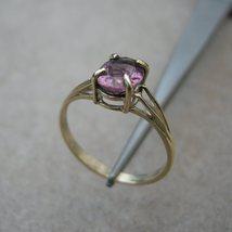 Yellow Gold Ring 1.30ct Pink Tourmaline - $129.00