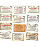 12 Vintage Blue Ribbon Coupon Tea Coffee Baking Powder - $6.00