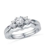 Ladies 14K White Gold Over 2 Ct Round Diamond Engagement Wedding Ring Br... - $83.15