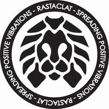 "Rastaclat Circle Logo 3.75"" Black White Spreading Positive Vibrations Sticker"