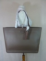 NWT Tory Burch Silver Maple/Malachite Leather McGraw Tote Bag $398 image 1